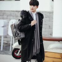 冬季新款外套男棉袄韩版潮流加厚棉衣男中长款帅气羽绒男冬装