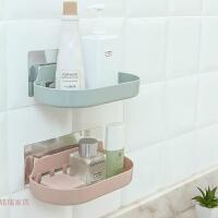 创意居家用品无痕贴置物架卫生间浴室沥水架厨房置物架收纳小百货