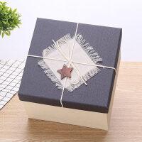 正方形礼品盒大号礼物包装盒超大伴手礼礼物盒生日*盒包装盒子