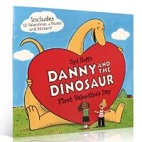 英文原版进口 Danny and the Dinosaur: First Valentine's Day 丹尼和恐龙