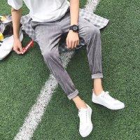 灯芯绒男裤子男士修身秋装哈伦裤男青年秋冬季韩版潮流小脚休闲裤