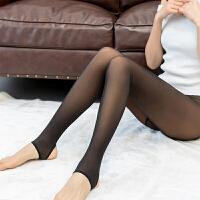 春秋薄款女单层假透肉打底裤真微透肤防勾丝袜外穿一体无缝连裤袜 均码