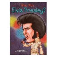 【现货】英文原版 Who Was Elvis Presley? 埃尔维斯・普雷斯利(猫 王)是谁? 名人传记 中小学生