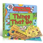 顺丰发货 英文原版 儿童绘本 Pop and Play Things That Go 一起玩一起学 STEM科普立体书