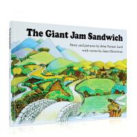【全店300减100】进口英文原版正版 The Giant Jam Sandwich 汪培�E推荐第四阶段Sandpipe
