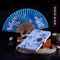 云锦笔记本丝绸扇子套装礼品 送老外 民族风出国礼物