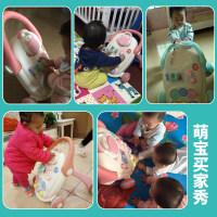 婴儿学步车手推车6-18个月宝宝学走路助步车防侧翻玩具女