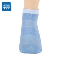 [618提前购专享价:4.9元]真维斯女装 春秋装特织撞色船袜