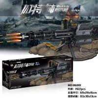 乐高积木加特林连发吃鸡枪成年高难度拼装玩具男孩子武器可发射