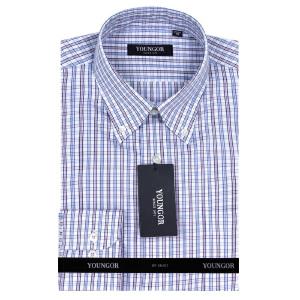 YOUNGOR雅戈尔紫色全棉DP免烫修身版长袖衬衫DP14820-32Y