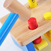 巧之木亲子互动游戏木制打桩台玩具宝宝儿童敲击益智早教积木玩具