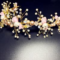 儿童发饰女孩可爱发箍发夹粉色女童生日演出配饰礼服头饰花环