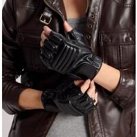 男士运动半指手套 韩版潮仿皮搏击露指街舞冬季