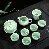 茶具套装 盖碗茶壶鱼杯套装