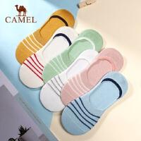 Camel/骆驼韩版袜子女棉质吸湿排汗可爱短筒6双装纯色棉船袜女