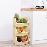 厨房收纳筐水果蔬菜多层可叠加收纳篮浴室置物架塑料果蔬菜篮子