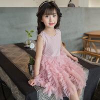 女童连衣裙新款时尚蓬蓬网纱裙夏季儿童洋气女孩公主裙