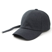 帽子男女鸭舌帽潮流棒球帽个性街头青年黑白纯色长带 M(56-58cm)