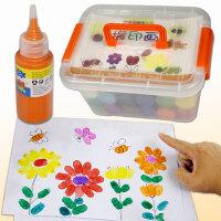 儿童手指画颜料无毒可水洗指印涂鸦宝宝画画颜料水彩绘画工具套装