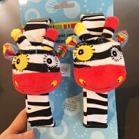 jollybaby快乐立体动物婴幼儿手摇铃手腕套 袜子套装毛绒玩具