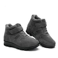 老北京布鞋男棉鞋中老年爸爸保暖毛绒加厚底老年人鞋父亲防滑棉鞋