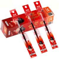真彩0.5/0.7/1.0mm大老板签字笔中性笔头/葫芦头 签名用笔笔芯 0.5 黑色葫芦头笔芯状元红20支装V339