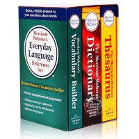 韦氏英语词字典词典辞典 3本全套 Merriam-Webster's Dictionary 英文原版 进口工具书 韦氏