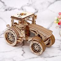 3D立体拼图木质机械皮筋齿轮传动模型玩具DIY手工拼装生日礼物男