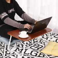 笔记本电脑桌懒人床上用可折叠带卡槽学生宿舍学习书桌写字小桌子