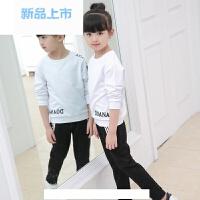 童装女童运动套装2018新款春装儿童休闲两件套中大童t恤+裤子春季