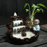 倒流香炉陶瓷香薰檀香炉家用室内熏香炉高山流水香道茶道创意摆件