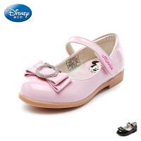 【99元任选2双】迪士尼Disney童鞋2018新款儿童时装鞋闪钻蝴蝶结公主鞋女童甜美表演鞋(5-10岁可选) S73