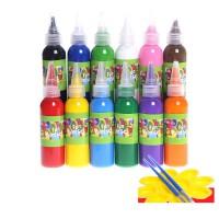 60ML儿童绘画水彩颜料手指画套装可水洗宝宝画画涂鸦幼儿园