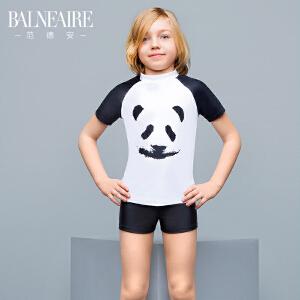 范德安儿童泳衣男童平角分体防晒速干游泳衣 中大童男孩沙滩泳装