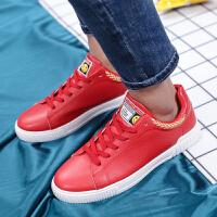 2018新款男鞋休闲鞋时尚潮流系带鞋子男 韩版耐磨皮鞋学生低帮板鞋 男