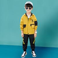 木木屋童装男童春装运动套装2021新款春夏季男孩大儿童韩版帅气洋气潮衣