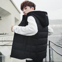 棉马甲男士外套羽绒秋冬季2018新款韩版潮流马夹保暖冬装坎肩