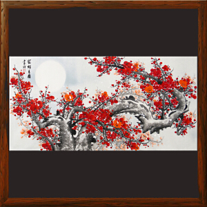 《花好月圆》王富财 中国书画家协会理事、江西美协会员【R2207】