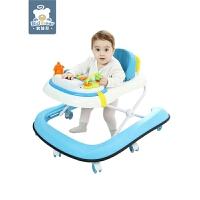 儿童学步车多功能fang侧翻男女宝宝6-18个月手推可坐行折叠