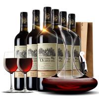 法国红酒 法国波尔多欧斯特酒庄原瓶进口维特干红葡萄酒 整箱+醒酒器+2酒杯