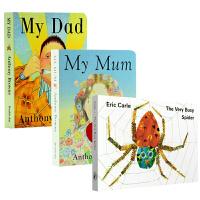 My Mum My Dad我爸爸妈妈 The Very Busy Spider繁忙的好忙的蜘蛛 英文版名家纸板书3册