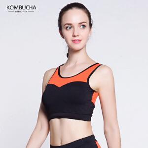 【限时特惠】KOMBUCHA瑜伽内衣2018新款女士无钢圈聚拢防震运动文胸跑步健身胸衣K0255