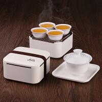 简易盖碗茶壶迷你户外便携功夫旅行包茶具套装家用陶瓷日式小茶杯 随身功夫茶具