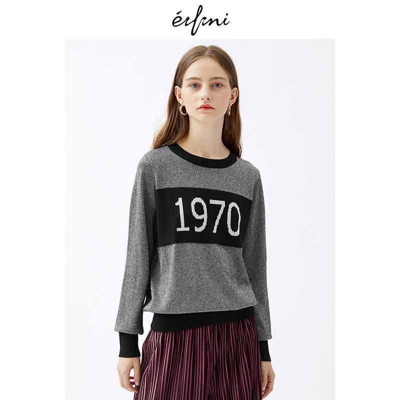 2件4折 伊芙丽2018冬装新款韩版时尚女装毛针织衫1187939781