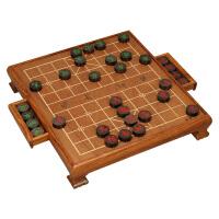 中国象棋套装3分黑檀木实木象棋刺猬紫檀象棋桌TX-610 棋盘+3分黑檀木象棋