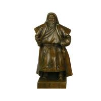 铜雕塑像伟人像一代天骄成吉思汗办公室摆件铜成吉思汗站像