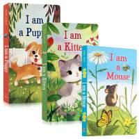I am a Kitten I am a Mouse Puppy 我是一只小猫/小狗/小老鼠 英文原版3册 Golden Books金色童书 I Am a Bunny同系列绘本 0-2-3-4岁