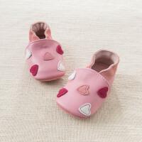 戴维贝拉春季新款婴儿宝宝羊皮革步前鞋DB6931