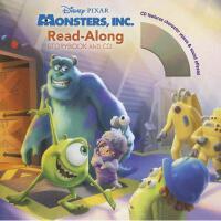 英文原版儿童书 Monsters, Inc. Read-Along [With CD (Audio)] 怪兽电力公司(书