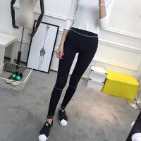 韩版显瘦紧身瑜伽裤女 跑步运动打底裤女外穿 健身薄款学生小脚裤